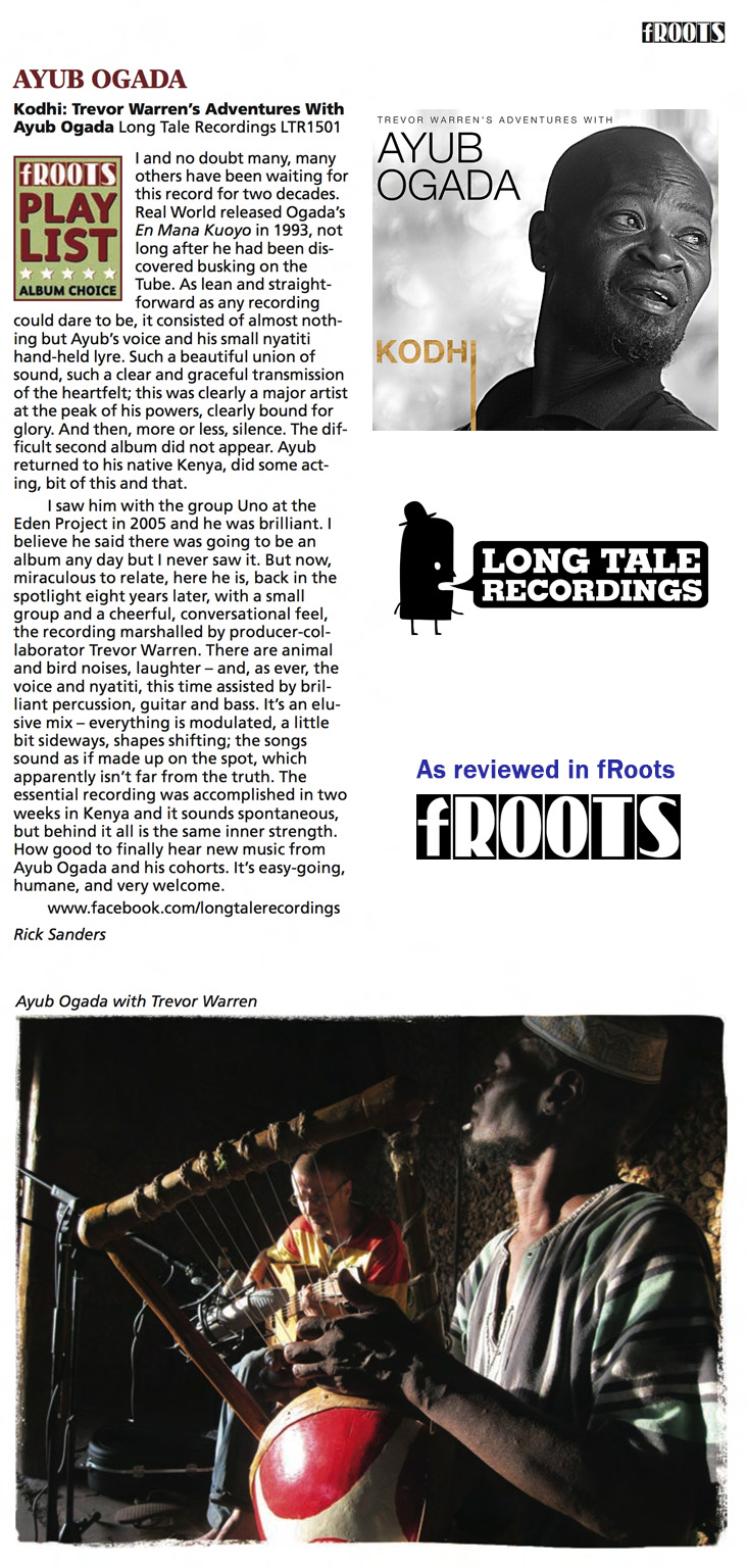 Kodhi review in fRoots MAY2015